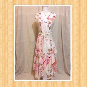 👗 Women's Belted Handkerchief Dress 👗